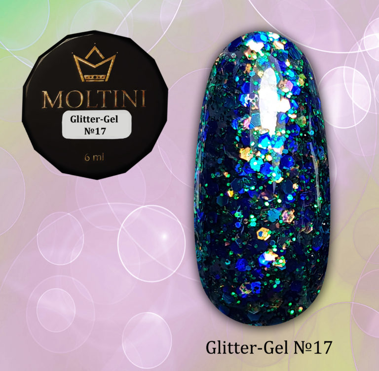Moltini Glitter-gel №17. 6 мл.