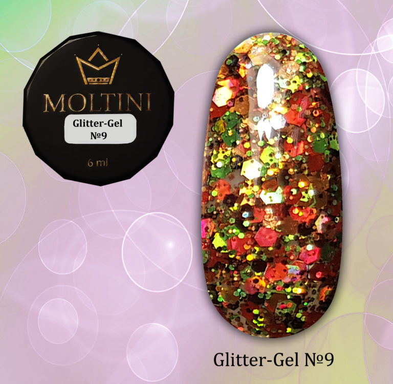 Moltini Glitter-gel №9. 6 мл.